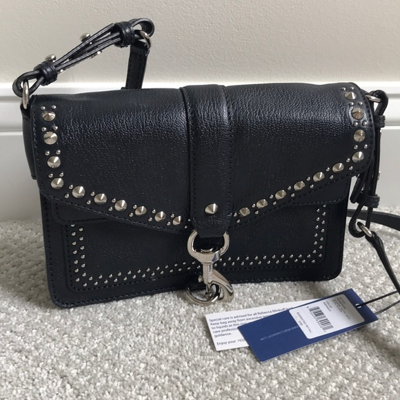 another chance high quality multiple colors Rebecca Minkoff Hudson Moto mini with studs